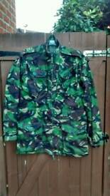 Camo Camouflage windproof temperate DPM woodland smock jacket