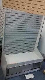 2 x slat wall cabinet retail shop display counter stand with hooks bargain