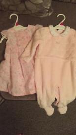 baby sleep suit and dress