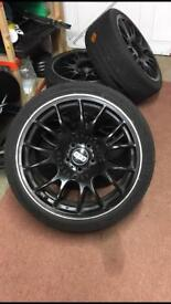 "BBS CH Replicas 18"" 5x112 8"" front 9"" rear staggered set of 4 with tires"