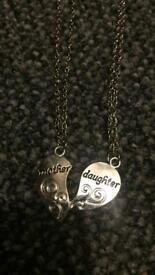 2 new mother daughter necklaces