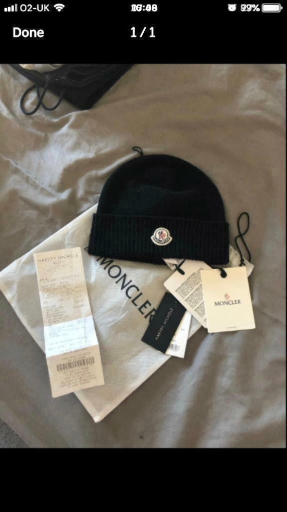 a47906614 Authentic moncler beanie hat NEW WITH TAGS AMD RECEIPT | in Bedminster  Down, Bristol | Gumtree