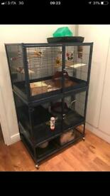 Extra large cage with wheels