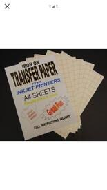 Inkjet fabric transfer paper