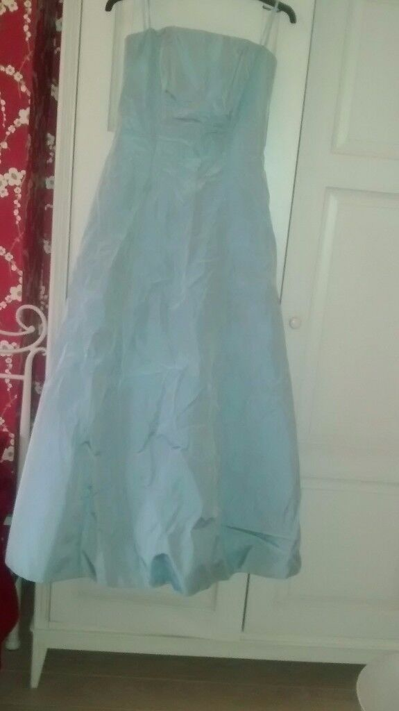 Debenhams prom/evening dress size 8 eau de nil