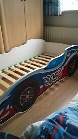 Excellent condition blue/red childs car bed