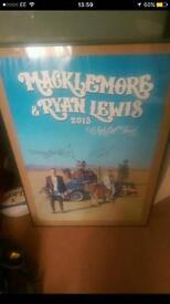 Macklemore and Ryan Lewis 2013 signed poster