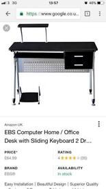 **BRAND NEW** EBS Black Desk