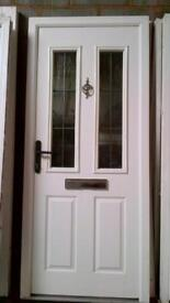 upvc comp door with framein very good condition with keys 36 inch wide x 82 inchigh call 07498143887