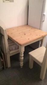 Solid table and chairs