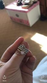 Pandora stacker ring for sale; open to offers