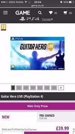 Guitar hero live , brand new , game & wireless guitar , ps4 ! Price stands , no offers !