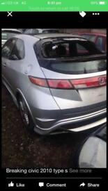 Breaking Honda Civic cdti 2009 type s
