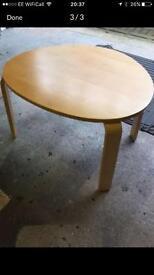 Ikea oak wood side table