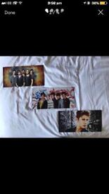 One Direction, Justin Bieber and The Wanted Painted Boards