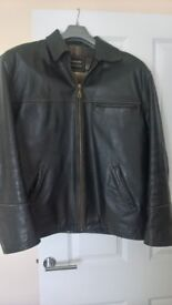 Real leather men's coat
