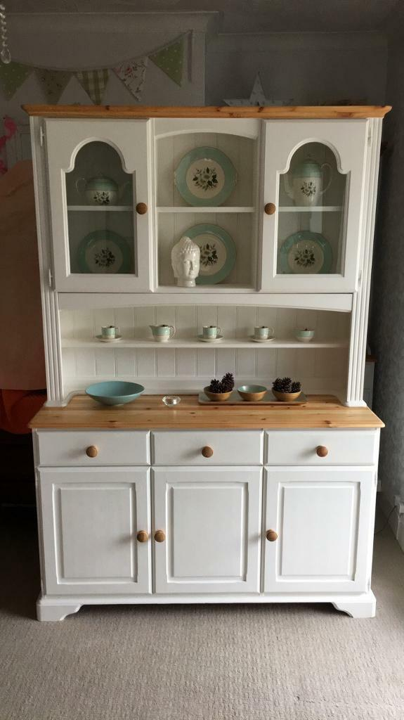 Large Solid Regent Pine Kitchen Dresser Shabby Chic