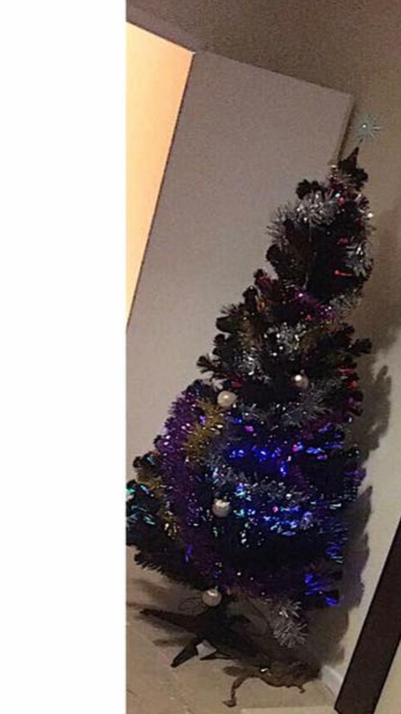 Black Pre Lit Christmas Tree Free In Plymouth Devon Gumtree