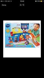 Vtech lift and loot with extra track and cars