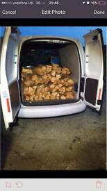 15 kg netted bags of logs/ firewood, hard and soft wood mixed
