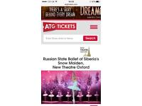 2 Senior Tickets - Russian State Ballet: Snow Maiden, Oxford