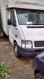 VW lt35, Luton, MWB, need some body repairs. Starts and drives.