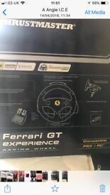 Thrustmaster Ferrari GT experience racing steering wheel plus foot pedals