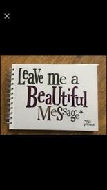 New message book