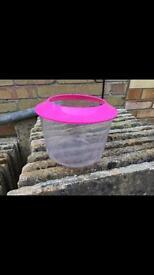 Pink plastic fish tank