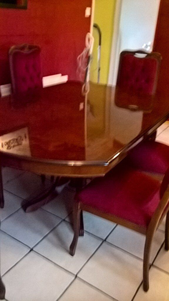 large table six chairs