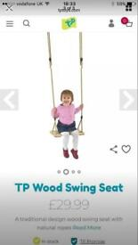 TP wooden garden swing set NEW