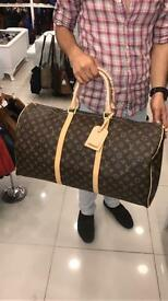 Louis Vuitton keepall hold-all bag leather