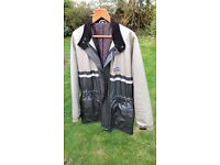 Gents Motor Cycle Jacket. A 1970s Silver and Black Rukka Jacket. Hardly ever worn. In good condition