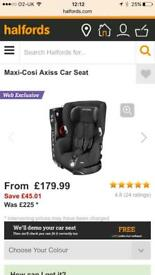 Maxi Cosi axiss car seats x2