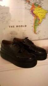 Acne Studios Black Leather Sacha Platform Sneakers size 3 (£230-£255 new) central London bargain