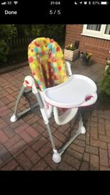 Mothercare foldable highchair
