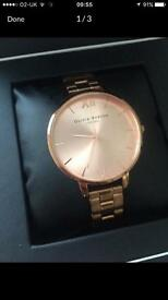 Olivia Burton Rose Gold Watch