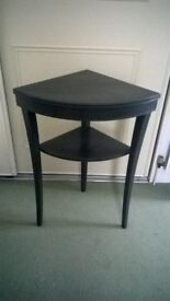 Stylish corner table painted in graphite grey - urban chic rather than shabby