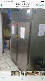 Double catering fridge