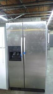 90- Refrigerateur Frigo KITCHEN AID STAINLESS 36'' Refrigerator Fridge