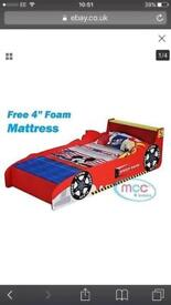 Junior car bed with mattress