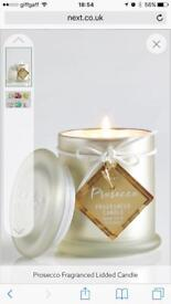 Next Prosecco Scented Candle in Jar with Lid - RRP £8