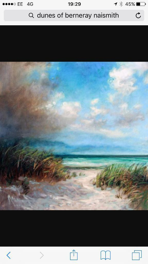 "Original Scott Naismith oil painting ""Dunes of Berneray"" contemporary landscape"