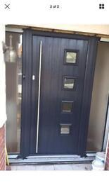 Solidor Milano with side glass 1000 x 2100 UPVC composite fire door