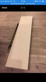 Lack by Ikea floating shelf gloss white
