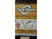 New & Part Worn Tyres Tyre store Open & Days