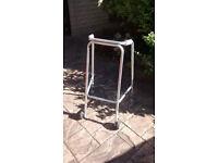 Zimmer Frame (wheeled type) Height Adjustable / Lightweight Aluminium / Good for Purpose