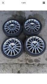 "FORD FOCUS ST170 MK1 97-05 GENUINE 17"" ALLOY WHEELS WITH TYRES"