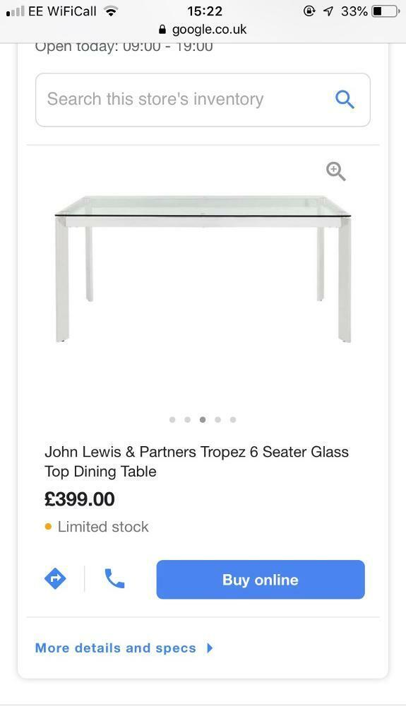 80673ced4630 John Lewis 6 seater glass dining table   in Swindon, Wiltshire   Gumtree