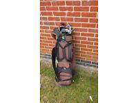 Golf Clubs with canvas bag